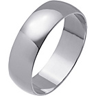 more details on 9ct White Gold Light Weight Court Wedding Ring - 6mm.