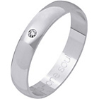more details on 9ct White Gold Diamond Set Commitment Ring - 4mm.