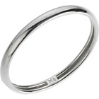 more details on 9ct White Gold Rolled Edge D-Shape Wedding Ring - 2mm.