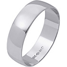 more details on Platinum D-Shape Personalised Wedding Ring - 6mm.