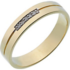 more details on 9ct Gold Diamond Set 'I Love You' Wedding Ring - 4mm.