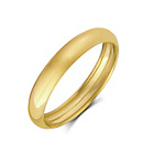 more details on 9ct Gold Rolled Edge Wedding Ring - 4mm.