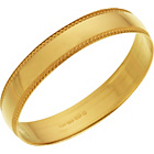 more details on 9ct Gold Plain Mill Grain Wedding Band Ring - 4mm.