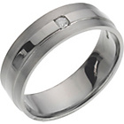 more details on Palladium Diamond Set Wedding Ring - 6mm.