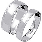 more details on 9ct White Gold Diamond Cut Wedding Ring Set.