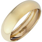 more details on 9ct Gold Rolled Edge D-Shape Wedding Ring - 6mm.