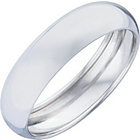 more details on 9ct White Gold Rolled Edge D-Shape Wedding Ring.