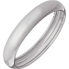 more details on 18ct White Gold Rolled Edge D-Shape Wedding Ring.