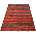 more details on Abstract Shaggy Red Rug - 160 x 230cm.