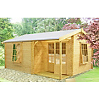 more details on Homewood Ringwood Wooden Cabin - 14 x 15ft.