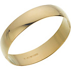more details on 9ct Gold Plain D-Shape Wedding Ring - 4mm.
