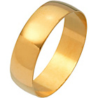 more details on 9ct Gold Plain D-Shape Personalised Wedding Ring - 6mm.