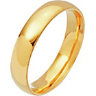 more details on 9ct Gold Court Shape Personalised Wedding Ring - 4mm.