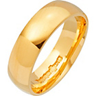 more details on 9ct Gold Court Shape Personalised Wedding Ring - 6mm.