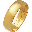 more details on 9ct Gold D-Shape Engraved Wedding Ring with High Dome - 6mm.