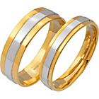 more details on 9ct 2 Coloured Gold Wedding Ring Set.
