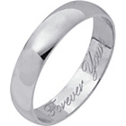 more details on 9ct White Gold Heavyweight Forever Yours Wedding Ring - 4mm.