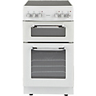 more details on Bush BFEDC50W Double Electric Cooker - White/Ins/Del/Rec.