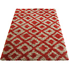 more details on Diamond Shaggy Red Rug - 160 x 230cm.