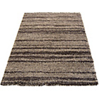 more details on Abstract Shaggy Chocolate Rug - 160 x 230cm.