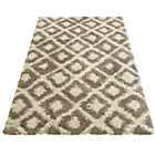 more details on Diamond Shaggy Natural Rug - 160 x 230cm.