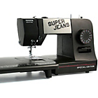 more details on Toyota Super Jeans 15PE Sewing Machine and Extension Table.