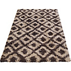 more details on Diamond Shaggy Chocolate Rug - 80 x 150cm.
