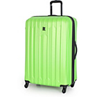 more details on IT Luggage Extra Large 4 Wheel Expander Trolley Case - Lime.