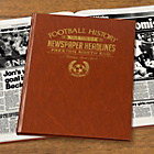 more details on Signature Gifts Preston FC Brown Leatherette Newspaper Book.