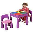 more details on Building Block PLay Top Table & Chairs Set - Purple.