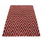 more details on Chevron Shaggy Red Rug - 80 x 150cm.