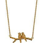more details on 9ct Gold Plated Sterling Silver Bird on Branch Necklet.