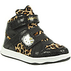 more details on Hello Kitty Girls' Leopard Print Hi Top Trainers.