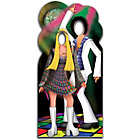 more details on Star Cutouts Disco Couple Life-Sized Stand-In.