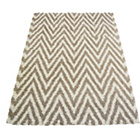 more details on Chevron Shaggy Natural Rug - 80 x 150cm.