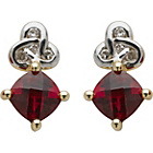 more details on 9ct Gold Created Ruby and Diamond Stud Earrings.