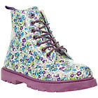 more details on Barratts Girls' Flower Print Lace Up Ankle Boots.