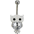 more details on Stainless Steel Crystal Owl Belly Bar.