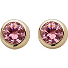 more details on 9ct Gold Pink Cubic Zirconia Rubover Stud Earrings.