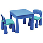 more details on Building Block PLay Top Table & Chairs Set - Blue.