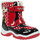 more details on Minnie Mouse Girls' Red Faux Fur Trim Snow Boots.