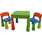 more details on 5 in 1 Table and Chairs Writing/Lego Top/Sand/Water/Storage.