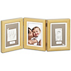 more details on Baby Art Double Print Frame - Natural.