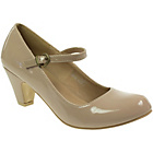 more details on Barratts Girls' Beige Heeled Mary Jane Court Shoes.