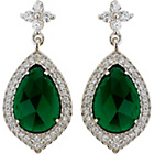 more details on Sterling Silver Emerald Green Cubic Zirconia Drop Earrings.
