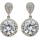 more details on Sterling Silver Cubic Zirconia Round Drop Earrings.