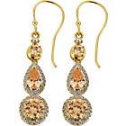 more details on 18ct Gold Plated Silver Champagne CZ Drop Earrings.