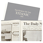 more details on Signature Gifts Titanic Grey Linen Newspaper Book.