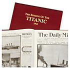 more details on Signature Gifts Titanic Burgundy Leatherette Newspaper Book.