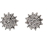 more details on 9ct Gold 0.50ct tw Diamond Cluster Stud Earrings.